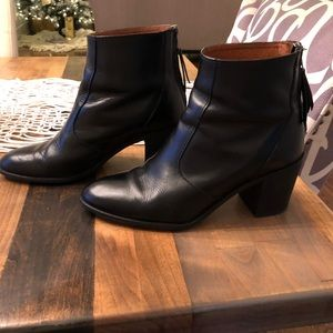 Madewell Ames Black Leather Boot